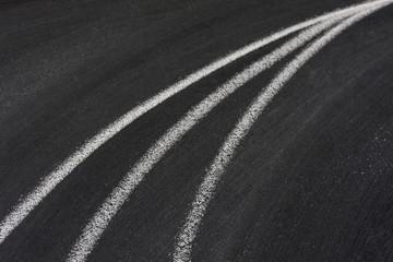converging lines on blackboard