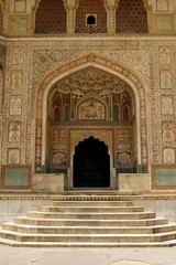 An entrance to a temple in Amber Fort complex, Rajasthan, India