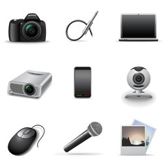 Media icons set 2