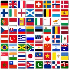 Quadratische 3D-Button mit Länderflaggen - Part 1