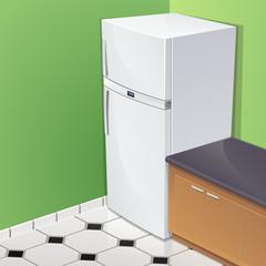 Réfrigérateur dans une cuisine