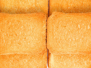 Bread slices background