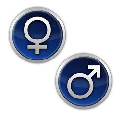 männlich weiblich symbole icon blau