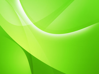 Bright green Mac-style abstract background image