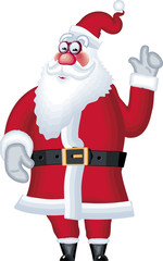 Vector illustration of posing Santa Claus