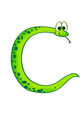 snake in the form of the letter C