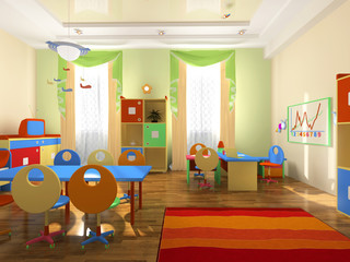 Interior of the baby office