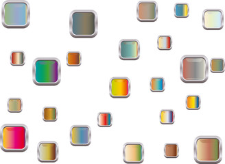 logo carré métallisé