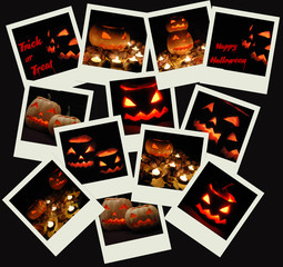 Stack of Halloween photo shots