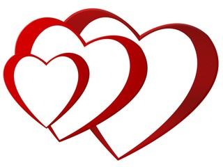 kaskadierende Herzen