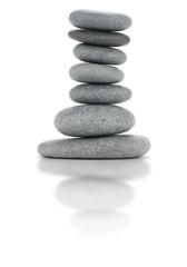 décor en pierres zen - cailloux en équilibre