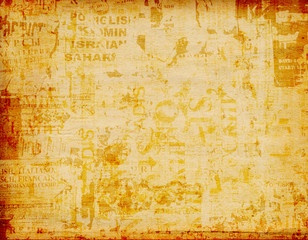 Deurstickers Kranten Grunge abstract background with old graphic posters