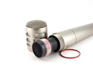 Disassembled microphone