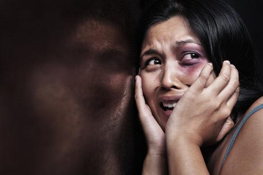 Injured woman terrified