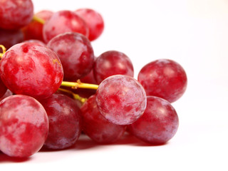Wine grape isolated on white