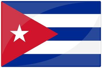 drapeau glassy cuba flag