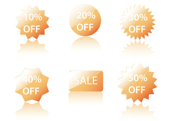 Vector Sale Icons.