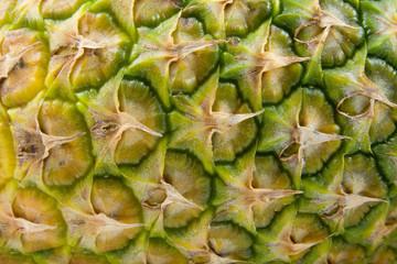 The peel of pineapple in closeup