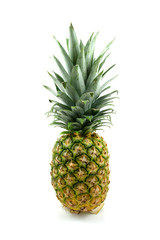 One fresh pineapple over white background