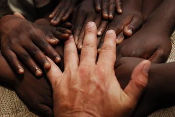 Zelfklevend Fotobehang Afrika hands