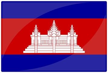 drapeau glassy cambodge cambodia flag