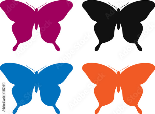 "Dessin Papillon En Couleur papillon couleur v/n/b/o"" stock photo and royalty-free images on"