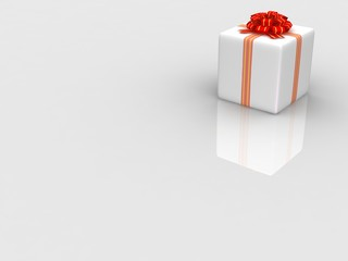 White gift isolated on white background