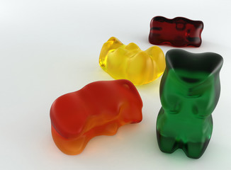 gummy bears 3d illustration
