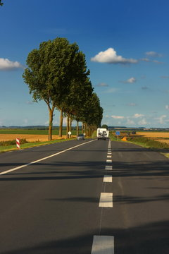 On the road, with motorhome in france