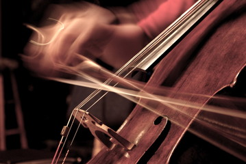 Cello Being Played