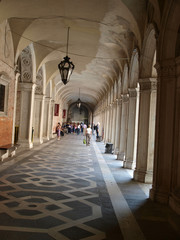 Courtyard of the Doge Palace in Venice, Italy