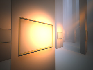 picture frame in gallery