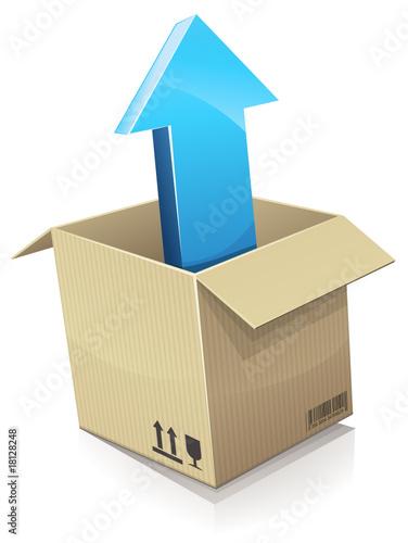 d ballage d 39 un carton reflet fichier vectoriel libre de droits sur la banque d 39 images. Black Bedroom Furniture Sets. Home Design Ideas