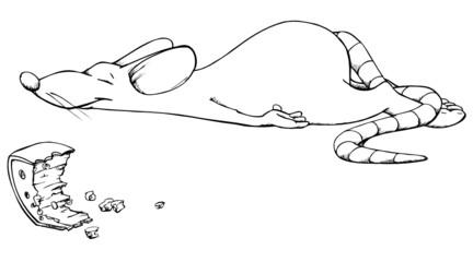 Maus, schlafen, Käse, schnarchen, essen