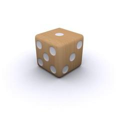 Dado de madeira