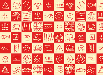 Color texture with symbols