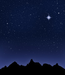 Mountain Starry Night