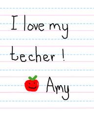 Apple and love for Teacher