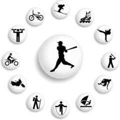 Set buttons. Sport