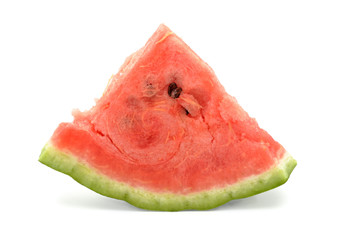 Slice of watermelon, isolated on white background