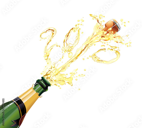 """Bouteille De Champagne Dessin champagne explosion"""" stock image and royalty-free vector files on"""