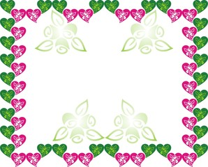 Green Pink Love Frame