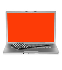 Laptop with US flag