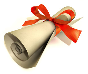 Gift voucher with red loop