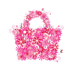 Floral shopping bag,summer sale