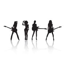 Rock stars silhouettes
