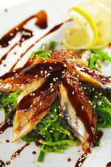 Chuka Seaweed with Unagi Salad