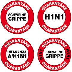 schild h1n1 quarantäne