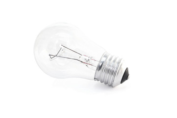 Electric bulb on isolated background