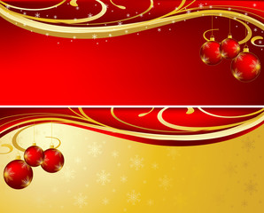 Christmas background red and gold